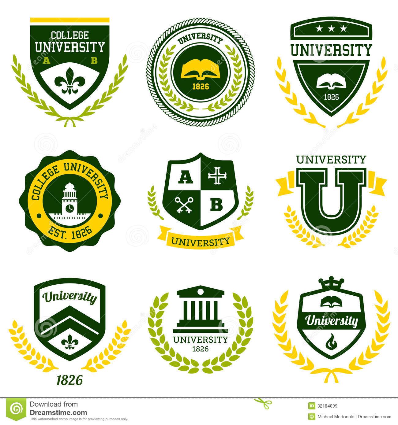 College Stock Illustrations.