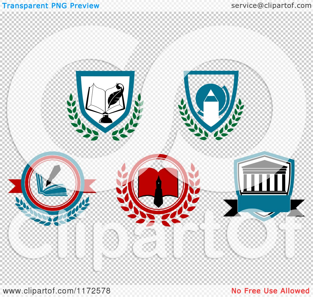 Clipart of a University or College Heraldic Designs.