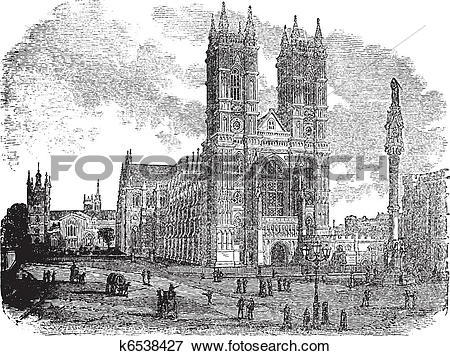 Clip Art of Westminster Abbey or Collegiate Church of St Peter in.