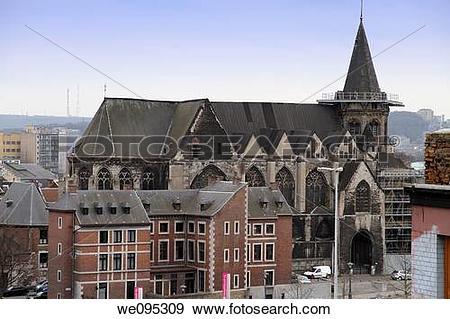 Stock Photograph of Collegiate church of Sainte Croix Liege.