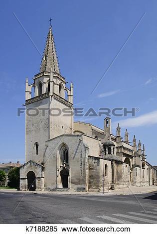 Stock Image of St Martha's Collegiate Church, Tarascon k7188285.