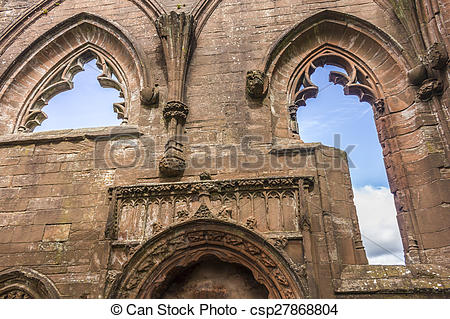 Stock Photography of Lincluden Collegiate Church.