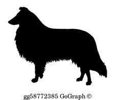 Collie Clip Art.