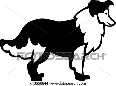 Rough Collie Clipart.