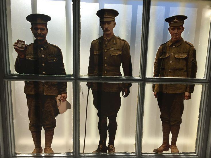 Collins Barracks, Dublin, Ireland. 1916 Rising display. October.