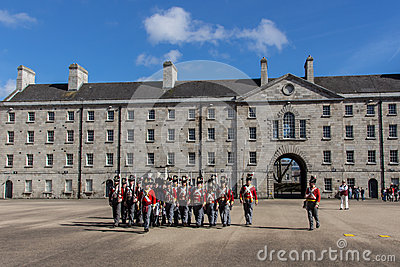 Military Parade At The Collins Barracks In Dublin, Ireland, 2015.