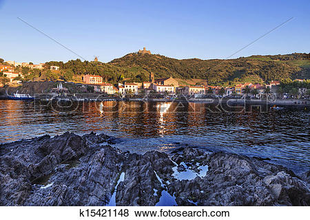 Pictures of Collioure in the Vermilion coast, France k15421148.