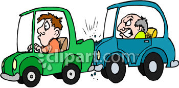 Collision and end clipart image.