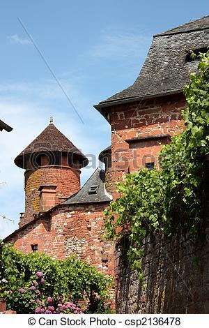 Pictures of Collonges la Rouge Architecture.