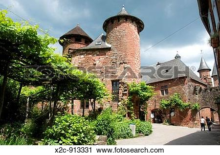 Stock Photography of Village of Collonges la Rouge Correze France.