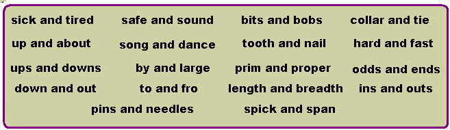 Colloquial Words.