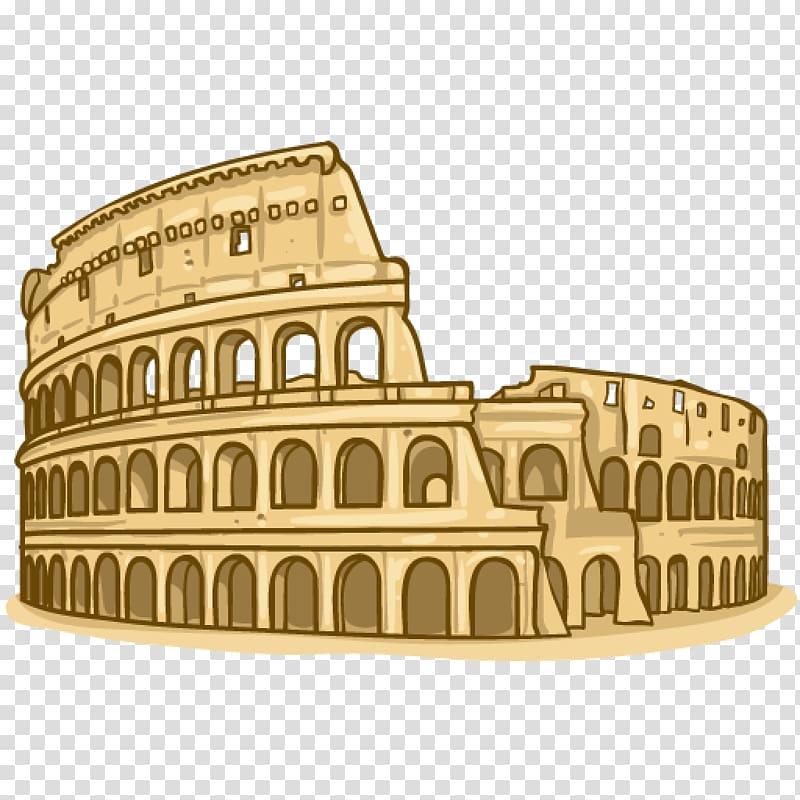 The Coliseum illustration, Colosseum Ridge Ancient Rome.