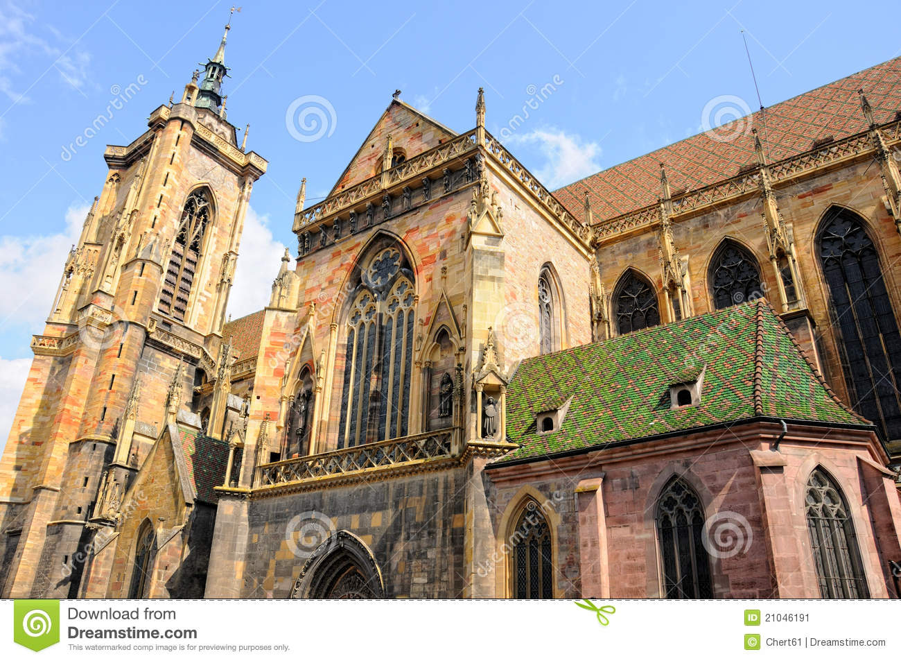 Cathedral Colmar Stock Image.