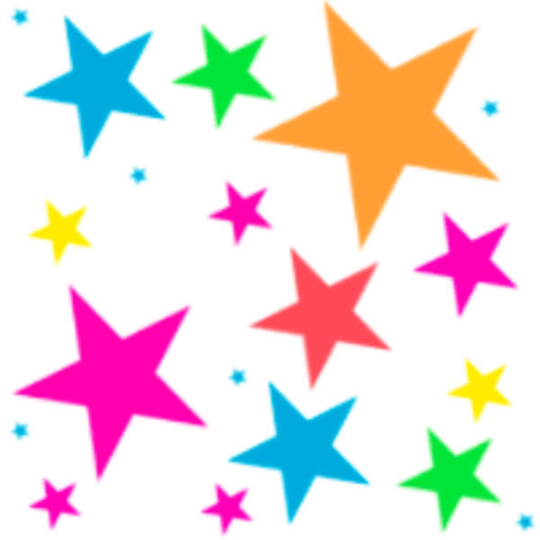 Colorful stars clipart free clipart images.