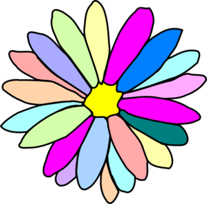 Colorful Flower Clip Art at Clker.com.