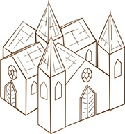 Cologne Cathedral Clip Art, Vector Cologne Cathedral.