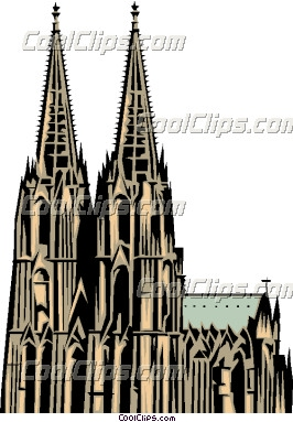 Cologne Cathedral Clip Art.