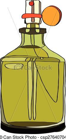 Vector Clipart of Fragrance for Men.