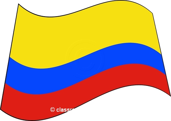 Free clipart colombian flag.