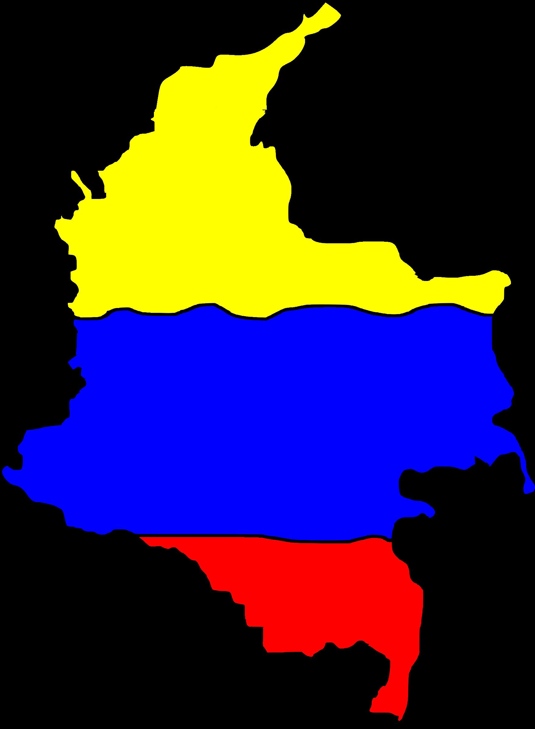 Mapa de colombia clipart.