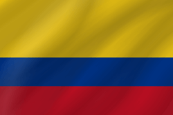 Colombia flag icon.