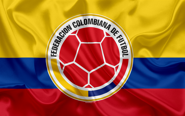 Download wallpapers Colombia national football team, logo, emblem.