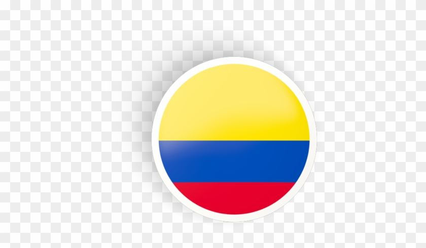 Illustration Of Flag Of Colombia.