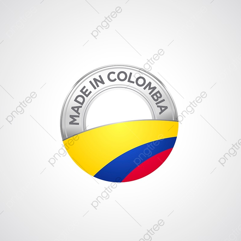 Made In Colombia, Background, Badge, Banner PNG and Vector with.