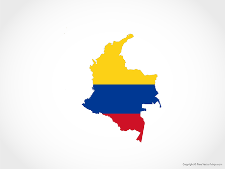 Vector Map of Colombia.