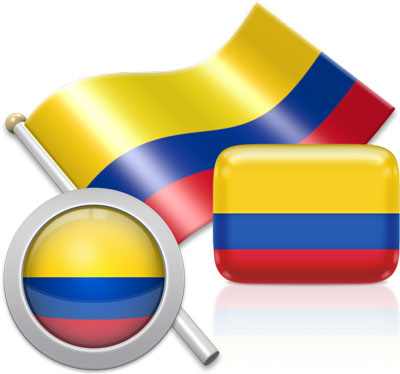 Flag of Colombia.