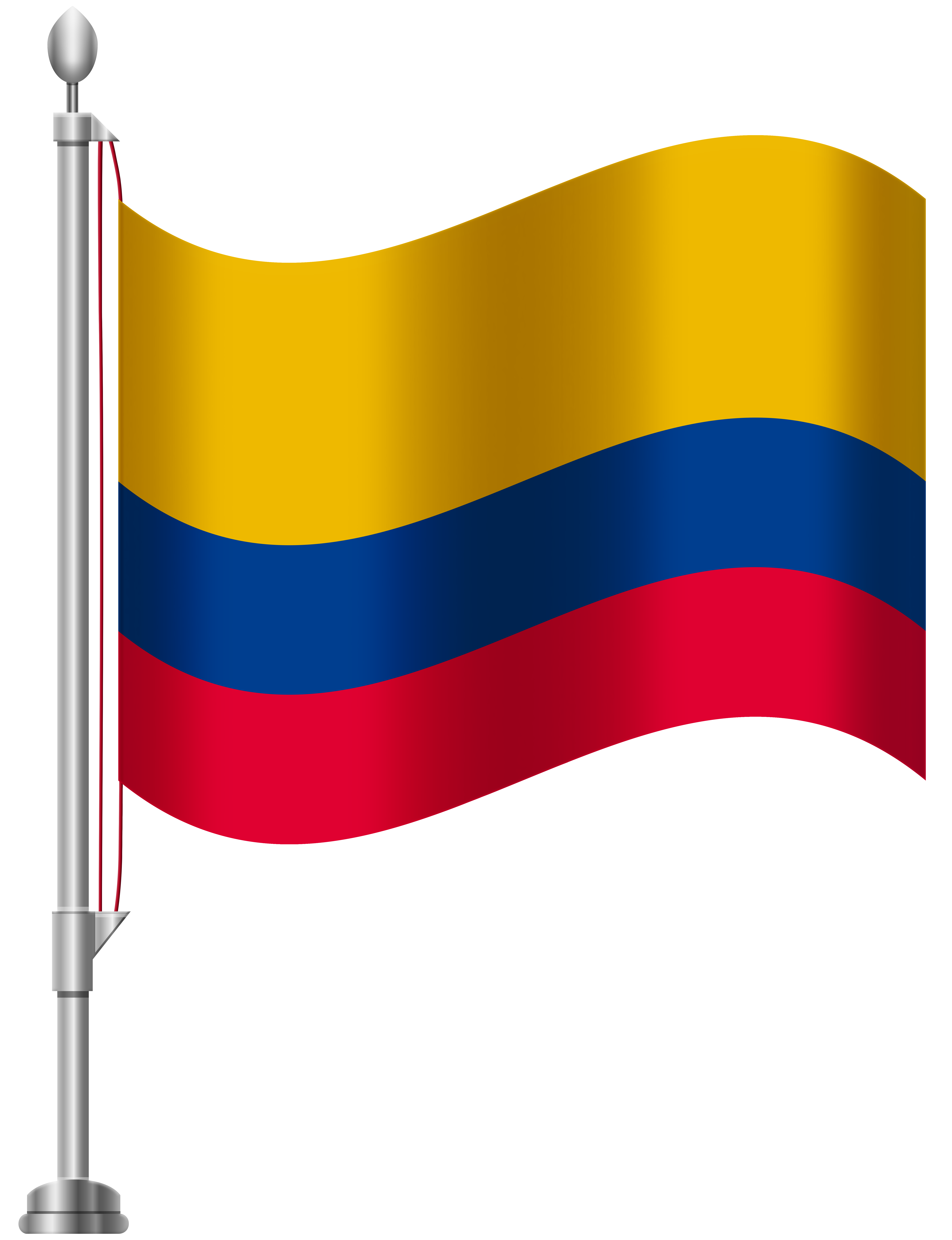 Colombia Flag PNG Clip Art.
