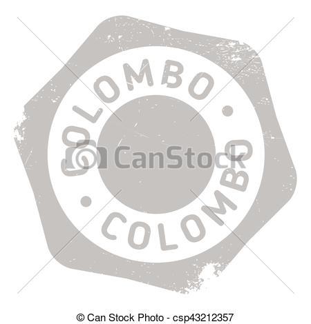 Clipart Vector of Colombo stamp rubber grunge.