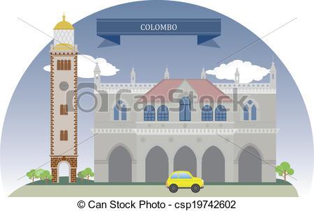 Vector Clipart of Colombo, Sri Lanka. For you design csp19742602.
