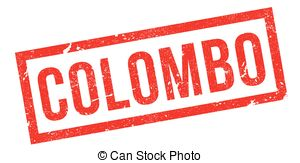 Vector Clipart of Colombo Rubber Stamp.