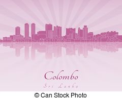 Colombo skyline Vector Clipart Royalty Free. 8 Colombo skyline.