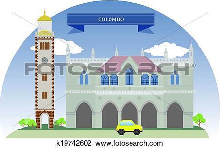 Clipart of Colombo, Sri Lanka k19742602.