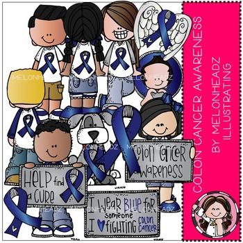 Colon Cancer Awareness clip art.