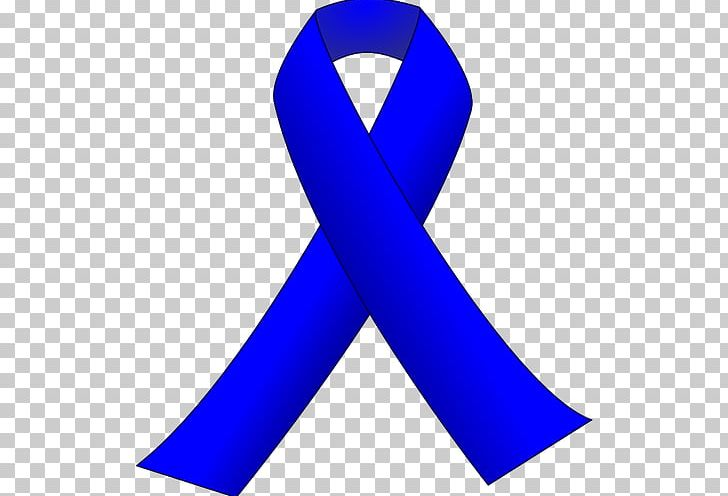 Awareness Ribbon Colorectal Cancer Blue Ribbon PNG, Clipart.