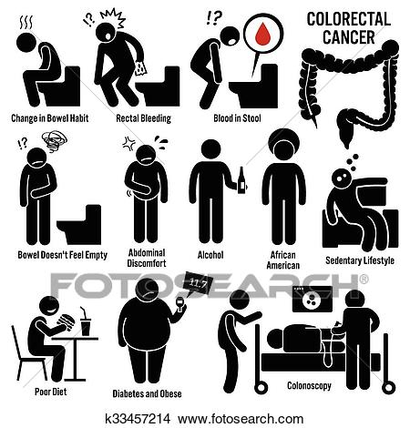 Colon and Rectal Colorectal Cancer Clipart.