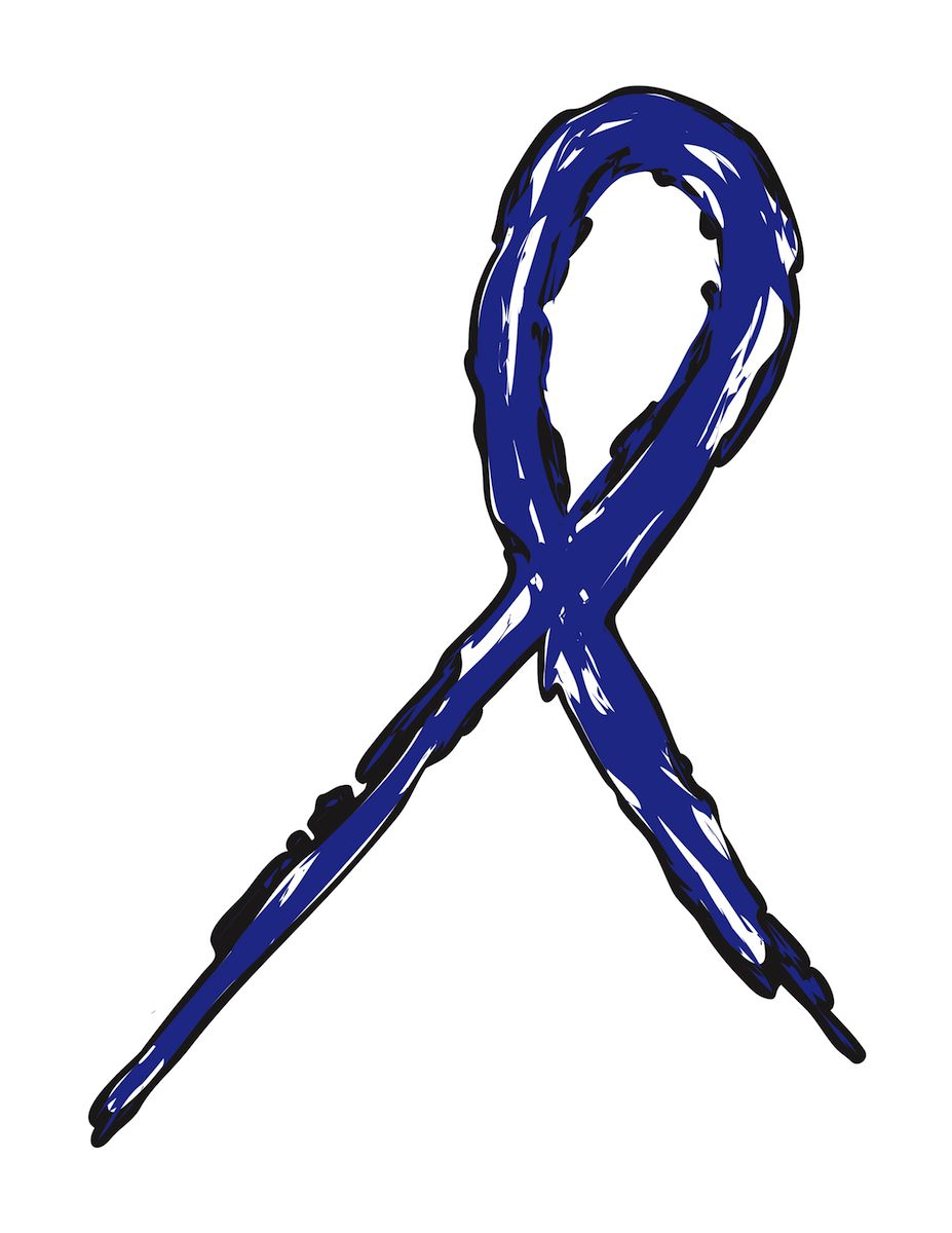 Colon Cancer Awareness Ribbon N2 free image.