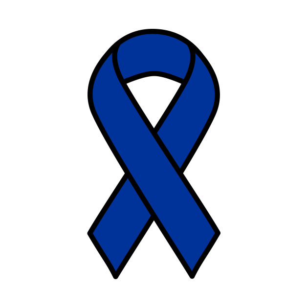 LIMITED EDITION. Exclusive Blue Colon Cancer Ribbon.