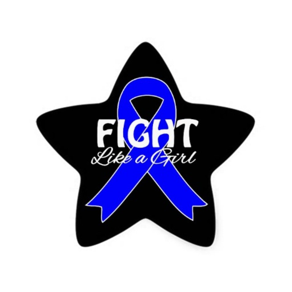 Blue Star Colon Cancer Ribbon free image.