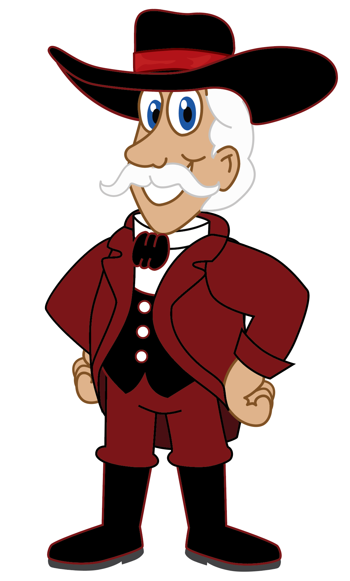 Colonel Mascot Clip Art.