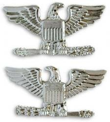 Air Force / Army Colonel Collar Device Rank Insignia Pair.