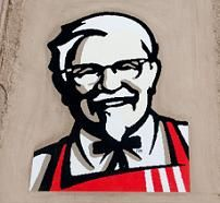 Largest KFC logo ever in the world. Area 51 Colonel Sanders.