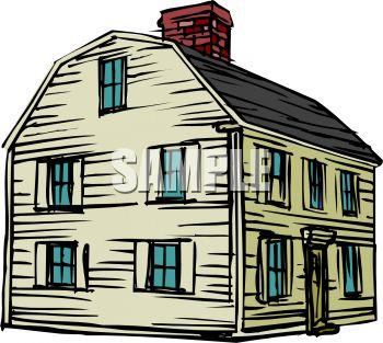 Barn Shaped Colonial House.