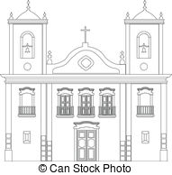 Colonial architecture Vector Clipart Royalty Free. 81 Colonial.