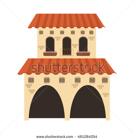 Spanish Colonial Architecture Stock Images, Royalty.