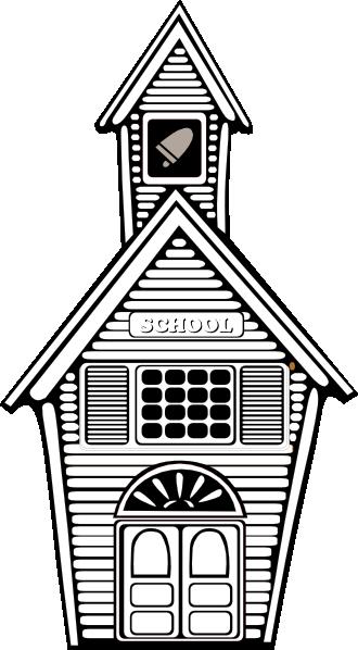 Colonial school clipart.