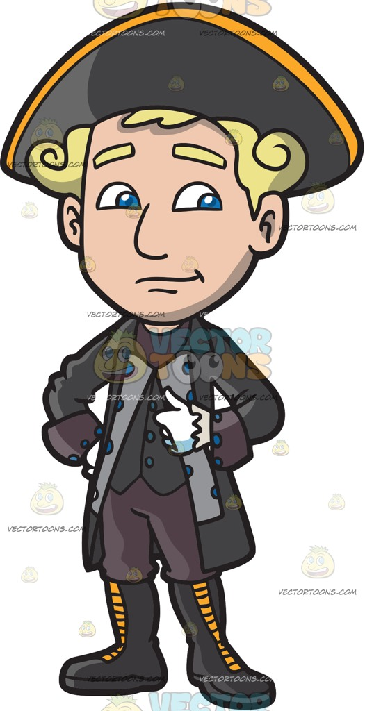 Colonial Man Clipart.